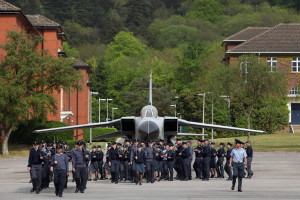 RAF Route Liners Practice Ahead Of The Royal Wedding