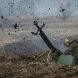 Боевики атаковали украинские позиции из запрещенного крупнокалиберного оружия