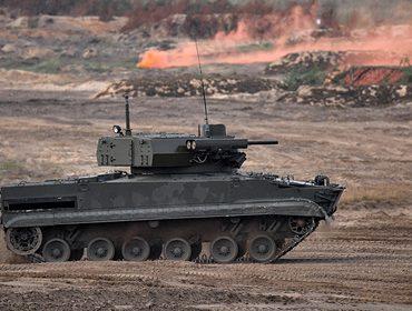 В России заметили БМП-3 с новым вооружением