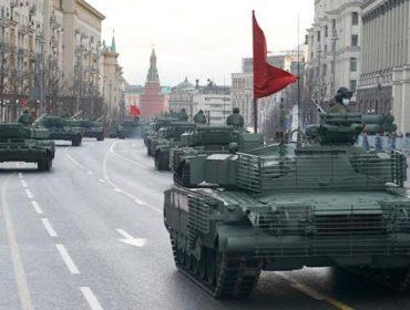 На Красной площади состоялась вторая ночная репетиция парада Победы